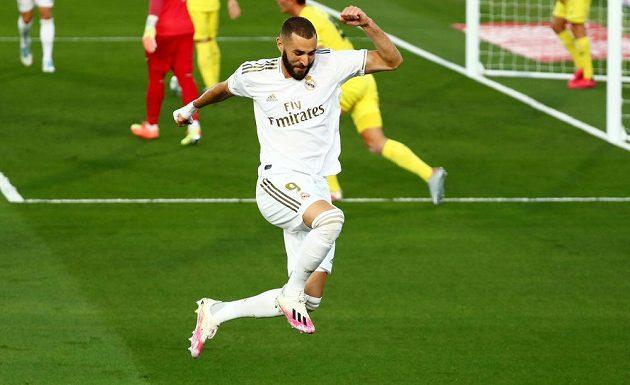 Karim Benzema z Realu poté, co skóroval proti Villarrealu.