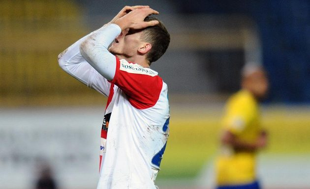 Slávistický útočník Tomáš Necid se proti Teplicím neprosadil.