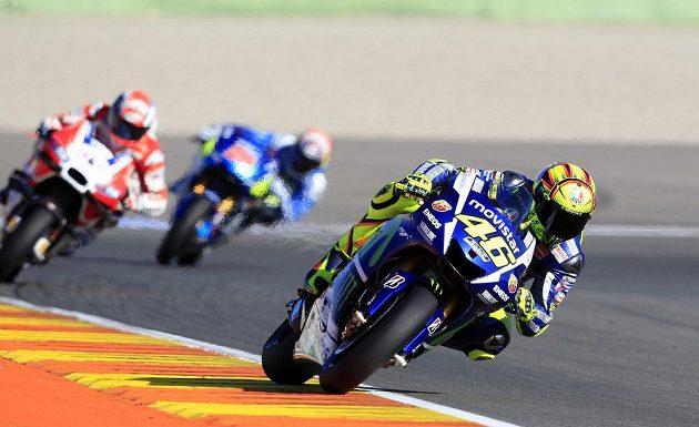 Valentino Rossi odstartuje do posledního závodu ve Valencii z posledního místa.
