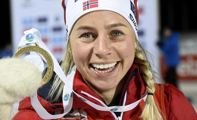 Norka Tiril Eckhoffová, vítězka sprintu SP v Kontiolahti.