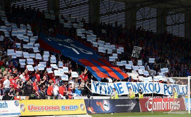 Plzeňští fanoušci během utkání 24. kola Gambrinus ligy s Jihlavou.