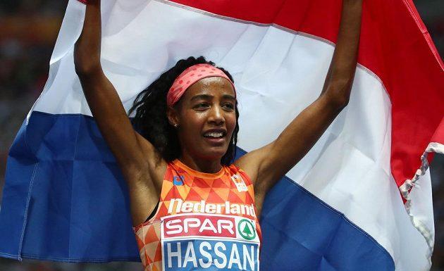 Sifan Hassanová z Nizozemska, vítězka běhu na 5000 m.