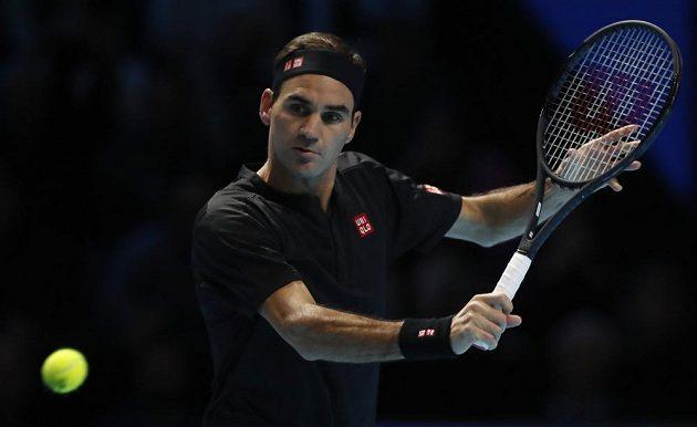 Roger Federer během Turnaje mistrů