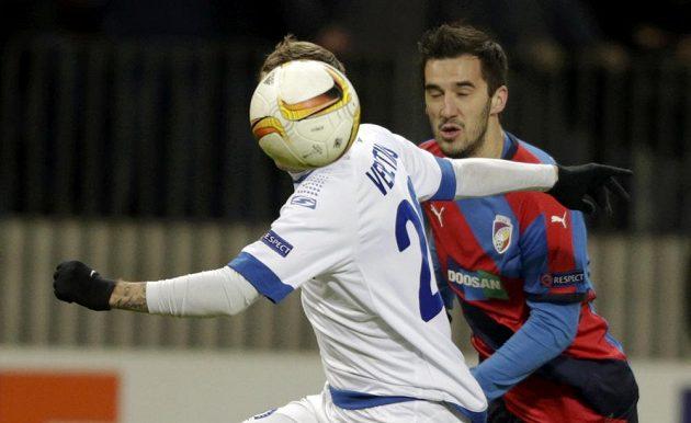 Útočník Plzně Aidin Mahmutovič během utkání Evropské ligy proti Dinamu Minsk.