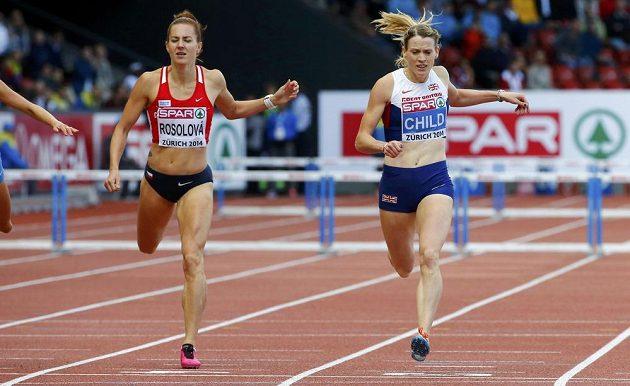 Britka Eilidh Childová při ME v Curychu získala na 400 m překážek zlato, na Denisu Rosolovou zbyla bramborová medaile.