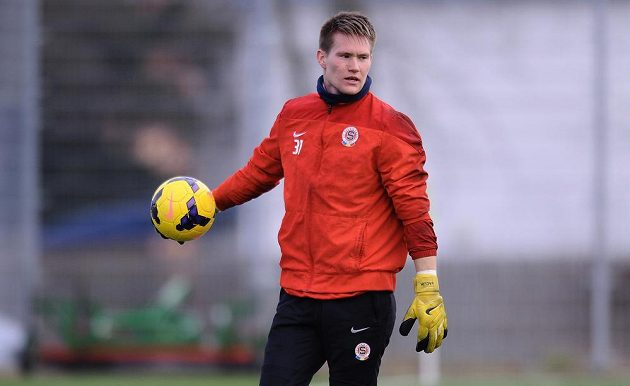 Brankář Sparty Praha Tomáš Vaclík během tréninku v rámci kondičního soustředění v Třeboni.