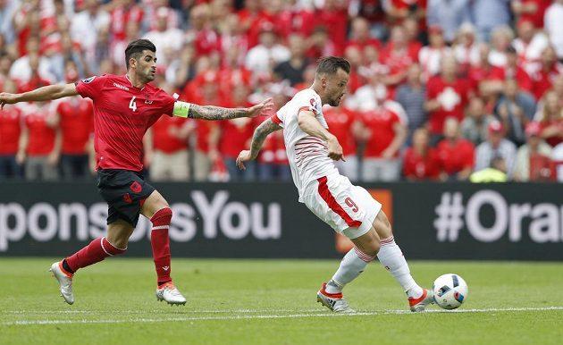 Útočník Haris Seferovič neproměnil svou šanci v utkání proti Albánii.