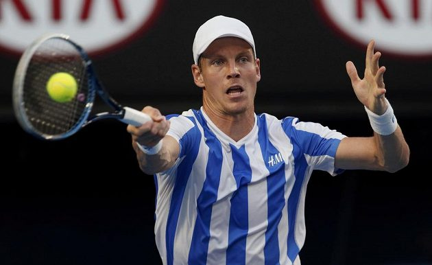 Tomáš Berdych v semifinále Australian Open.
