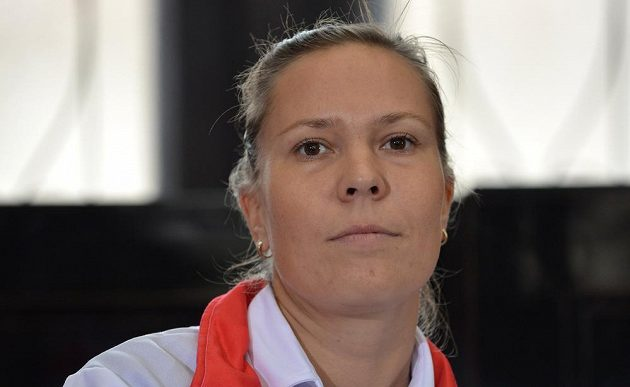 Česká reprezentantka Lucie Hradecká.