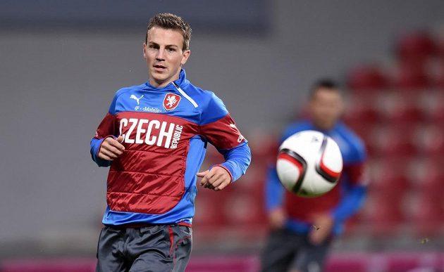 Středopolař Vladimír Darida během tréninku české fotbalové reprezentace před utkáním s USA.