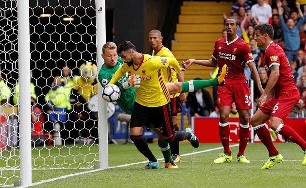 Gól? Watford vs. Liverpool. První kolo Anglické ligy přineslo remízu 3:3.