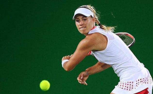 Německá tenistka Angelique Kerberová během finále olympijského turnaje.