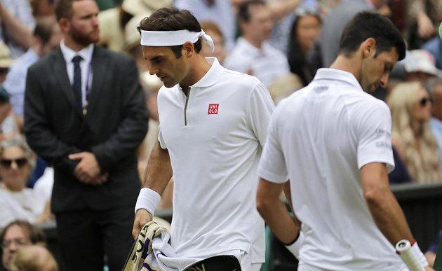 Novak Djokovič a Roger Federer v boji o wimbledonský titul