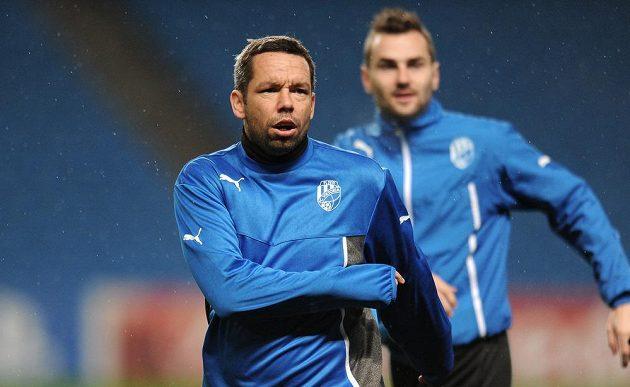 Záložník Viktorie Plzeň Pavel Horváth na tréninku.