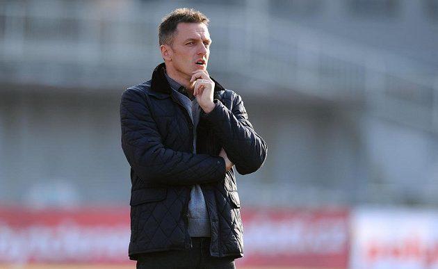 Trenér Dukly Praha Luboš Kozel během utkání 19. kola Gambrinus ligy s Jihlavou.