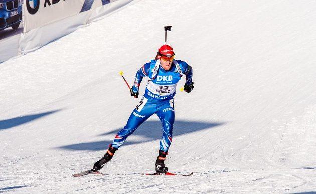 Michal Šlesingr během pátečního sprintu v Anterselvě.