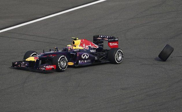 Webber po kvalifikaci nedokončil ani samotnou Velkou cenu Číny. Na vině bylo uvolněné kolo.
