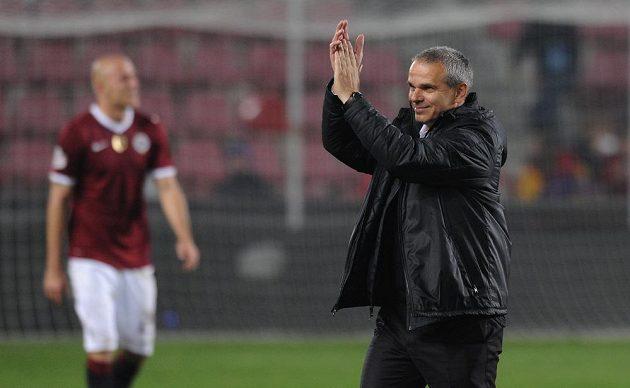 Trenér Sparty Vítězslav Lavička po výhře 3:0 nad Duklou.