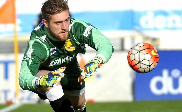 Zlínský brankář Tomáš Holý během utkání ve Zlíně.