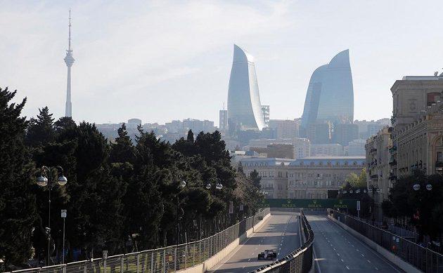 Trať Velké ceny Ázerbájdžánu F1.