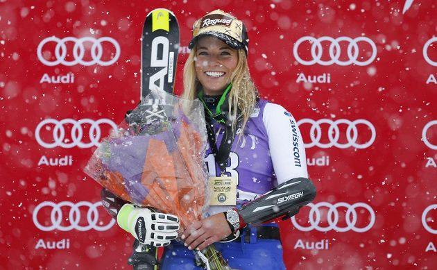 Lara Gutová, vítězka obřího slalomu Světového poháru v Aspenu.