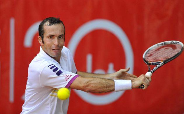 Finále tenisového challengeru Czech Open v Prostějově. Z vítězství se radoval Radek Štěpánek.