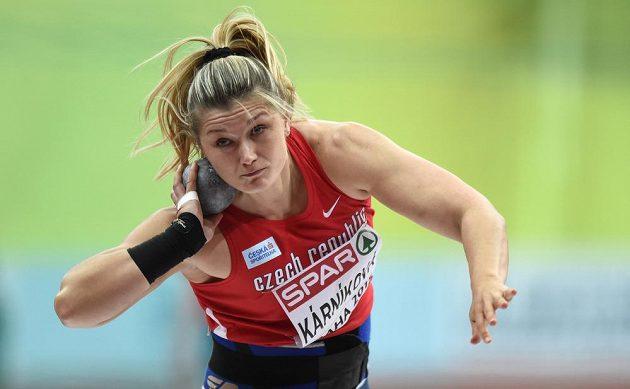 Koulařka Jana Kárníková během kvalifikace.