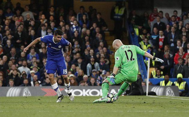 Kanonýr Chelsea Diego Costa zahrál brankáři Middlesbrough na housle a vstřelil vedoucí gól lídra Premier League.