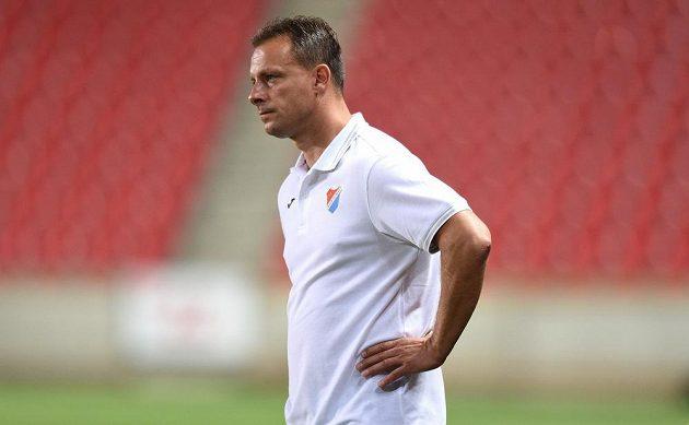 Asistent trenéra Baníku Ostrava Martin Svědík během utkání 2. kola Synot ligy se Slavií Praha.