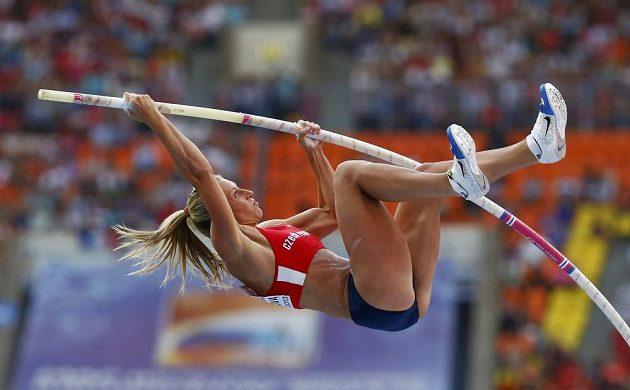 Tyčkařka Jiřina Svobodová skončila ve finále MS osmá.