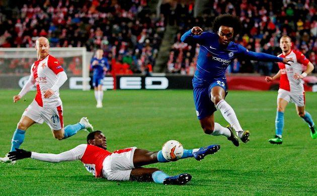 Slavia měla v úvodu utkání proti Chelsea navrch