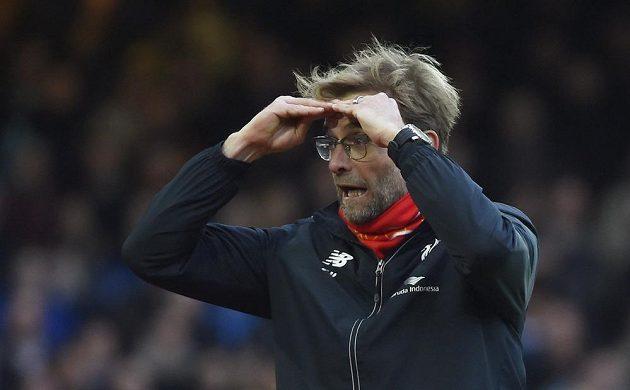 Trenér Liverpoolu Jürgen Klopp během utkání s West Hamem.
