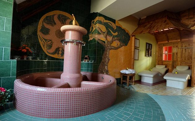 Relaxační zázemí v pražském hotelu Selský Dvůr.