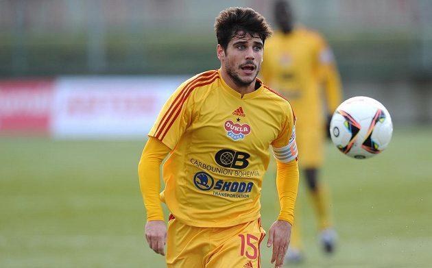 Jose Romera z Dukly Praha během utkání zimní Tipsport ligy se Slavií.