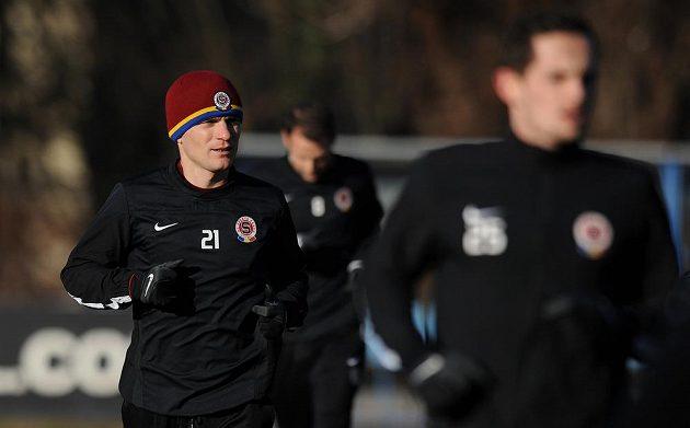 Útočník Sparty Praha David Lafata během prvního tréninku zimní přípravy.