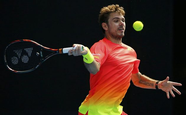 Forhend Stana Wawrinky v osmifinále Australian Open.