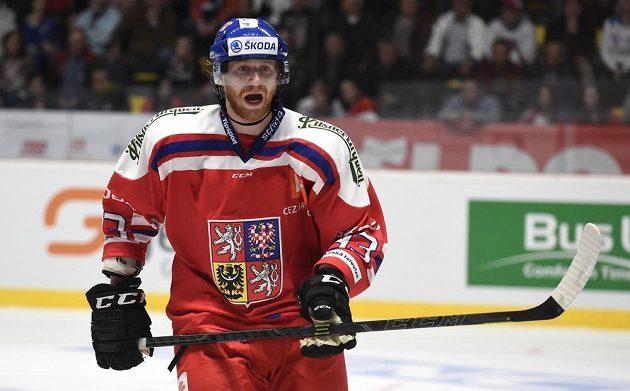 Jakub Voráček během přípravného utkání s Finy ve Znojmě.
