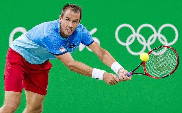 Lukáš Rosol na olympijských hrách záhy dohrál ve čtyřhře i ve dvouhře.