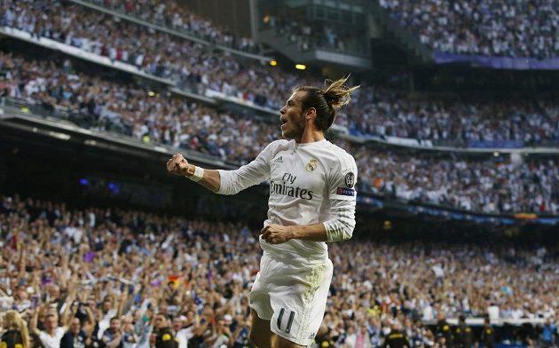 Gareth Bale z Realu Madrid se raduje ze vstřelené branky.