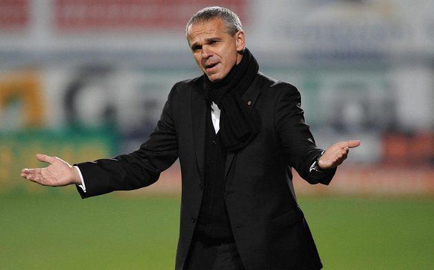 Sparťanský trenér Vítězslav Lavička během utkání 14. kola Gambrinus ligy proti Olomouci.