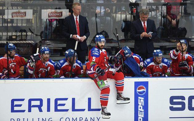 Justin Azevedo ze Lva Praha během 4. utkání finále play off KHL.
