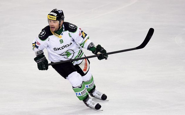 Útočník Mladé Boleslavi David Výborný během utkání se Spartou.