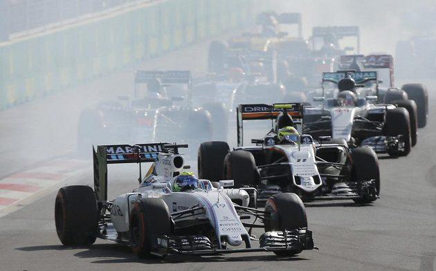 Felipe Massa z Williamsu při GP Evropy v Baku.