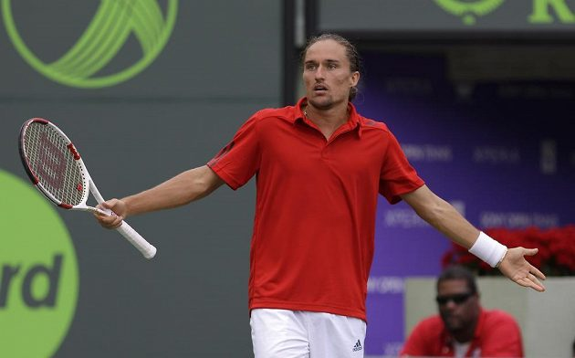 Ukrajinec Alexandr Dolgopolov ve čtvrtfinále turnaje v Miami na Tomáše Berdycha nestačil.