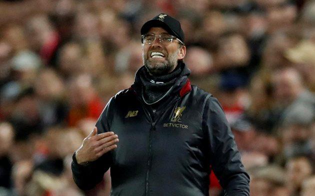 Kouč Liverpoolu Jürgen Klopp během čtvrtfinále Ligy mistrů s Portem.