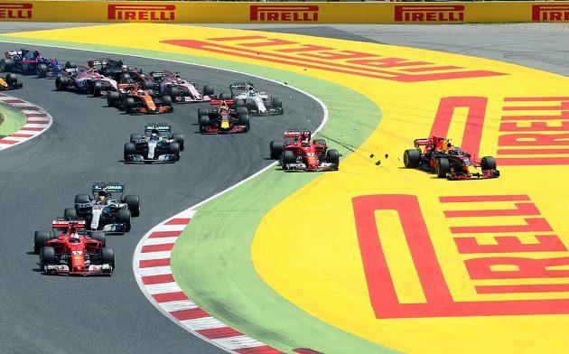 Start velké ceny Španělska