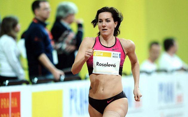 Běžkyně Denisa Rosolová během mezinárodního halového mítinku Prague Indoor.