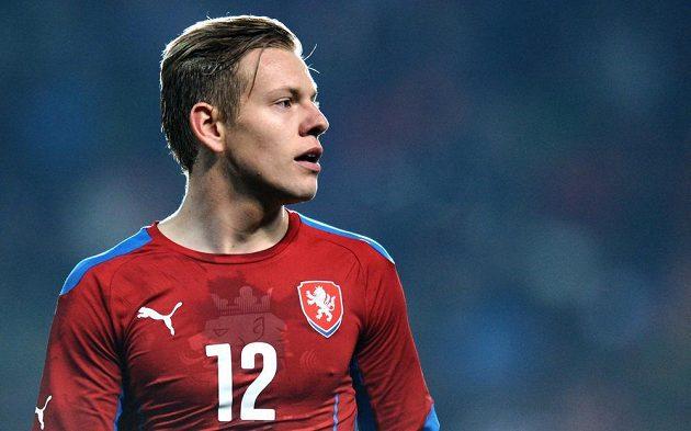 Útočník Matěj Vydra se v utkání proti Norsku jednou zapsal do střelecké listiny.