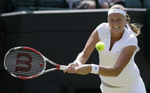 Petra Kvitová v utkání 3. kola Wimbledonu.