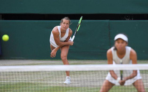 Barbora Strýcová a Sie Šu-wej bojovaly ve finále Wimbledonu